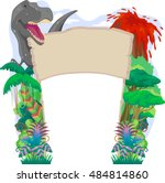 banner illustration with a... | Shutterstock .eps vector #484814860