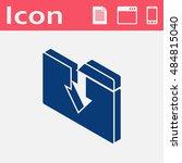 upload folder isometric 3d icon | Shutterstock .eps vector #484815040