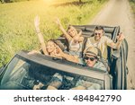 group of friends having fun at... | Shutterstock . vector #484842790