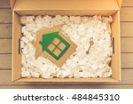 top view of the box for packing ... | Shutterstock . vector #484845310