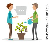 people. plant. finance. vector... | Shutterstock .eps vector #484854718