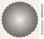 Vector Black And White Spiral...