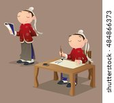 Cartoon Ancient Chinese Pupil