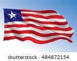 liberia flag | Shutterstock .eps vector #484872154