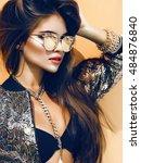lifestyle portrait of sensual... | Shutterstock . vector #484876840
