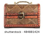 small decorative chest on a... | Shutterstock . vector #484881424