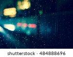 abstract circular bokeh... | Shutterstock . vector #484888696