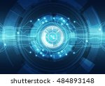 abstract vector hi speed... | Shutterstock .eps vector #484893148