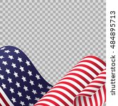 cropped waving american flag on ... | Shutterstock .eps vector #484895713