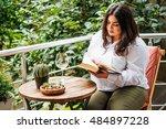 portrait of beautiful plus size ... | Shutterstock . vector #484897228