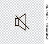 mute sound icon vector  clip...