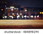 image of wooden table in front... | Shutterstock . vector #484898194