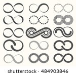 infinity symbol set 15 signs of ...   Shutterstock .eps vector #484903846