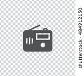 radio icon vector  clip art....