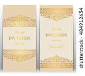 wedding invitation or card with ... | Shutterstock .eps vector #484912654