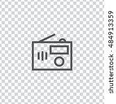 radio icon vector  clip art....