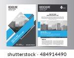 abstract flyer design... | Shutterstock .eps vector #484914490