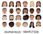 set of illustrations of diverse ... | Shutterstock .eps vector #484917106