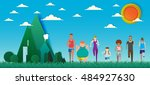 everybody can run use for... | Shutterstock .eps vector #484927630