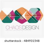 abstract background with round... | Shutterstock .eps vector #484931548