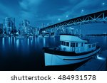 vancouver false creek at night... | Shutterstock . vector #484931578