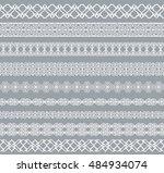 set of white borders isolated...   Shutterstock .eps vector #484934074