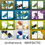 set of a4 size annual report... | Shutterstock . vector #484936750