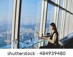 woman start up owner of big... | Shutterstock . vector #484939480