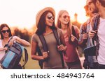enjoying every moment with... | Shutterstock . vector #484943764