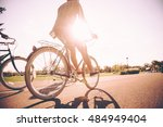 on the way to sunrise. low... | Shutterstock . vector #484949404