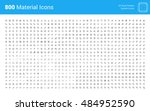 material design pixel perfect... | Shutterstock .eps vector #484952590