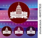usa capitol building... | Shutterstock .eps vector #484957810