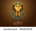 egypt pharaoh vector... | Shutterstock .eps vector #484963939