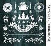 christmas decorations ... | Shutterstock .eps vector #484971760