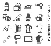 household things icons set | Shutterstock .eps vector #484972774