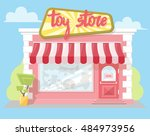 facade toy store with a... | Shutterstock .eps vector #484973956