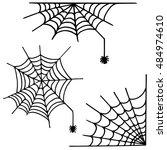 spider's web icon set.... | Shutterstock .eps vector #484974610