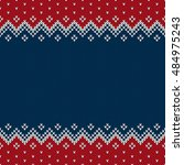 traditional fair isle style... | Shutterstock .eps vector #484975243