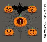 abstract vector illustration of ... | Shutterstock .eps vector #484975414