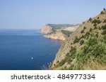 see and mountains. crimea.... | Shutterstock . vector #484977334