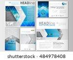 social media posts set.... | Shutterstock .eps vector #484978408