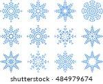 snowflake vector set  | Shutterstock .eps vector #484979674