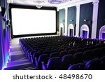 people in a cinema | Shutterstock . vector #48498670