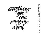 imagine everything you can is... | Shutterstock .eps vector #484987924
