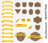 vintage ribbon labels and... | Shutterstock .eps vector #484997908