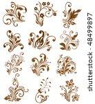floral elements design. vector... | Shutterstock .eps vector #48499897