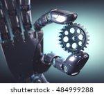 3d illustration. robotic hand... | Shutterstock . vector #484999288
