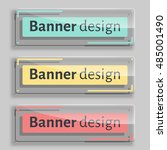 banner design. set of three... | Shutterstock .eps vector #485001490