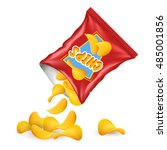 chips package concept chips... | Shutterstock .eps vector #485001856