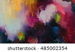 abstract oil painting... | Shutterstock . vector #485002354